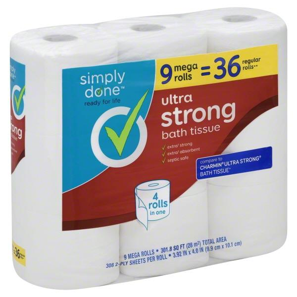 Simply Done Ultra Strong Bath Tissue | Hy-Vee Aisles Online ...