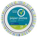 "Simply Done 10 1/16"" Designer Paper Plates"