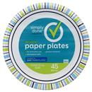 "Simply Done 8.6"" Designer Paper Plates"