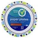 "Simply Done Heavy Duty Designer 10 1/16"" Paper Plates"