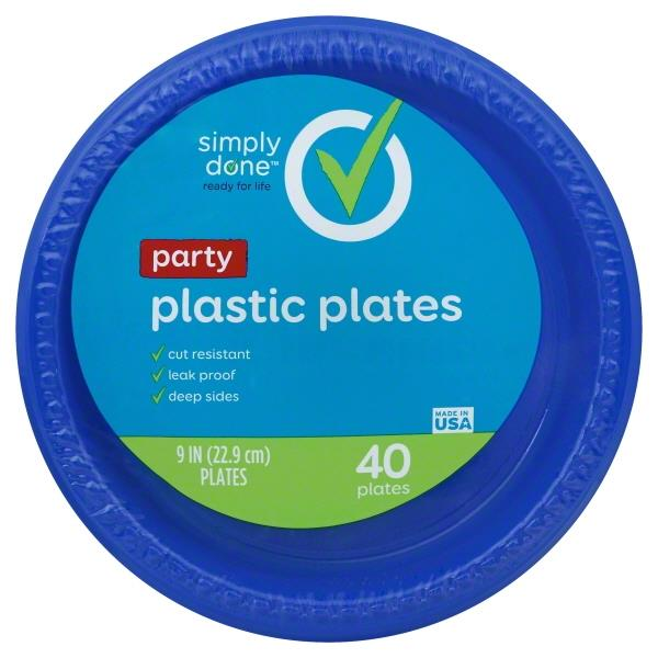 Simply Done Party 9  Plastic Plates | Hy-Vee Aisles Online Grocery Shopping  sc 1 st  Hy-Vee & Simply Done Party 9