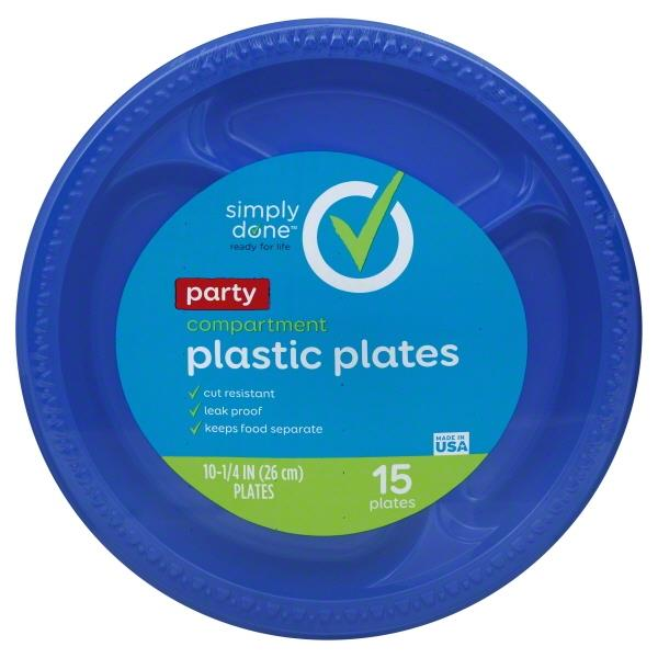Simply Done Party Compartment Plastic Plates | Hy-Vee Aisles Online Grocery Shopping  sc 1 st  Hy-Vee & Simply Done Party Compartment Plastic Plates | Hy-Vee Aisles Online ...