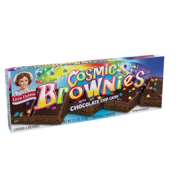 Little Debbie Cosmic Brownies with Chocolate Chip Candy 6Ct