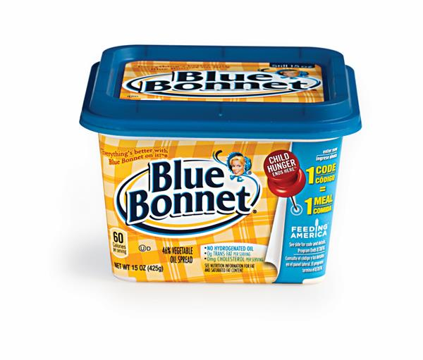 Blue Bonnet Quarters is rated out of 5 by 1. Rated 5 out of 5 by brainiac from Better than Butter BB has less trans fat and cholesterol than butter. I use it on my sweet potatoes, and everything else.