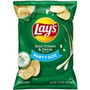 Lay's Potato Chips, Sour Cream & Onion Party Size
