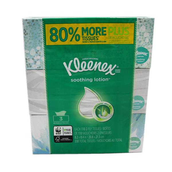 Kleenex Soothing Lotion 3Pk
