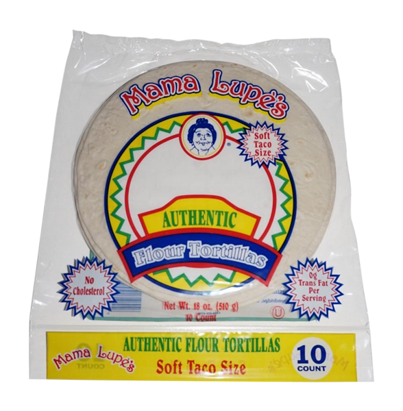 Mama Lupe's Authentic Flour Tortillas Soft Taco Size 10CT