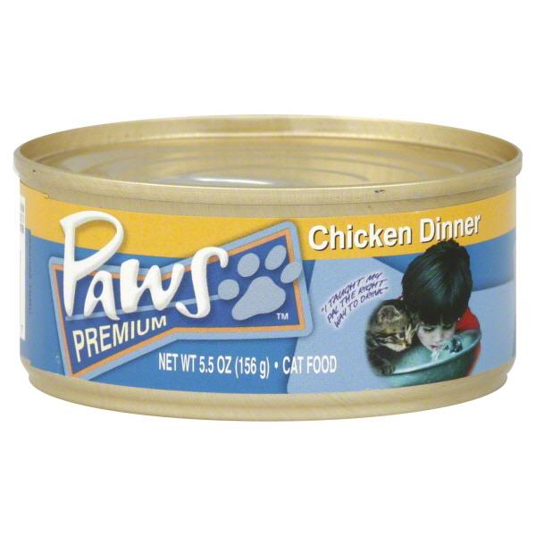Paws Premium Chicken Dinner Cat Food Hy Vee Aisles Online Grocery