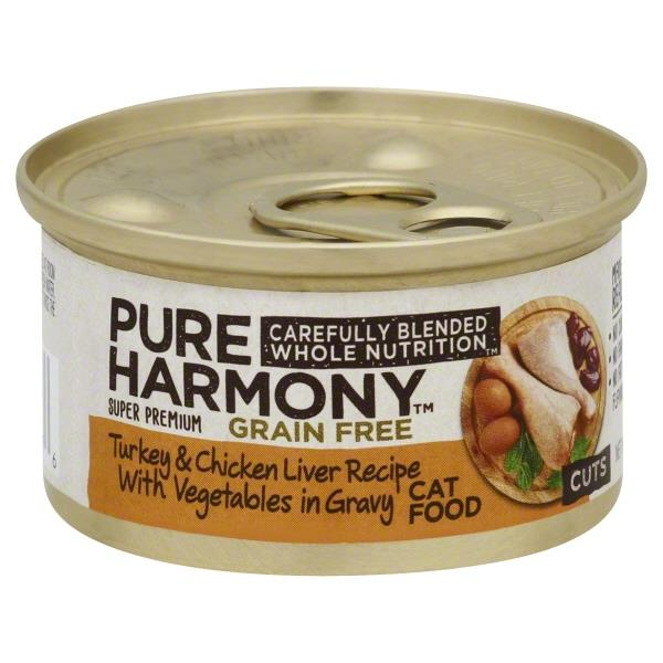 Pure harmony grain free turkey chicken liver recipe with pure harmony grain free turkey chicken liver recipe with vegetables in gravy cat food hy vee aisles online grocery shopping forumfinder Image collections