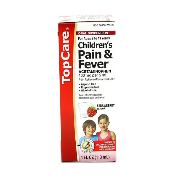TopCare Children's Pain & Fever Strawberry Flavor Oral Suspension