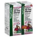 TopCare Children's All Day Allergy Dye-Free Sugar Free Bubble Gum Flavor