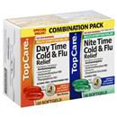 TopCare Day Time/Night Time Cold & Flu Relief Combo Pack Softgels