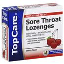 TopCare Fast Acting Cherry Throat Lozenges