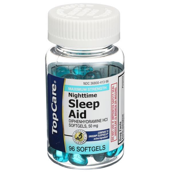 TopCare Maximum Strength Nighttime Sleep Aid Softgels