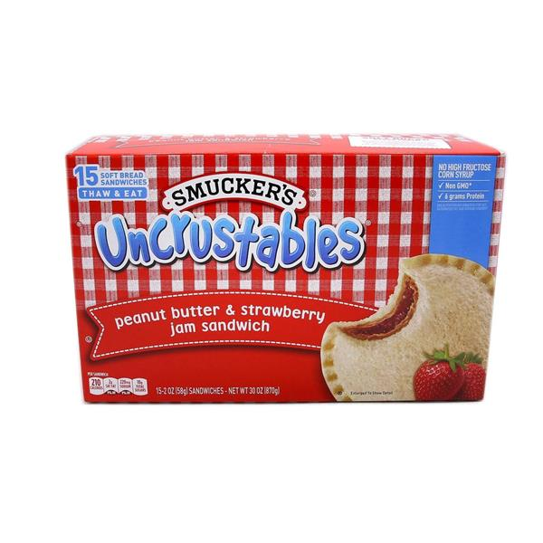 Smuckers Uncrustables Peanut Butter & Strawberry 15 - 2 oz Sandwiches