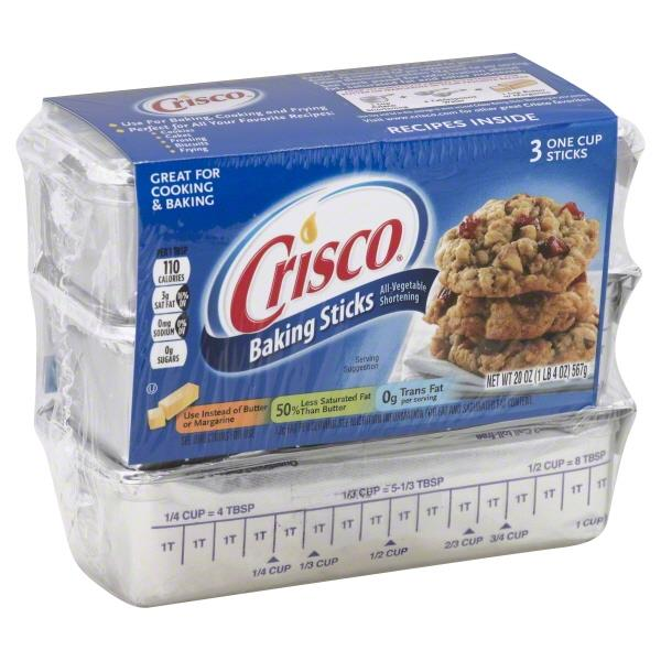 Crisco Baking Sticks 3 One Cup Sticks