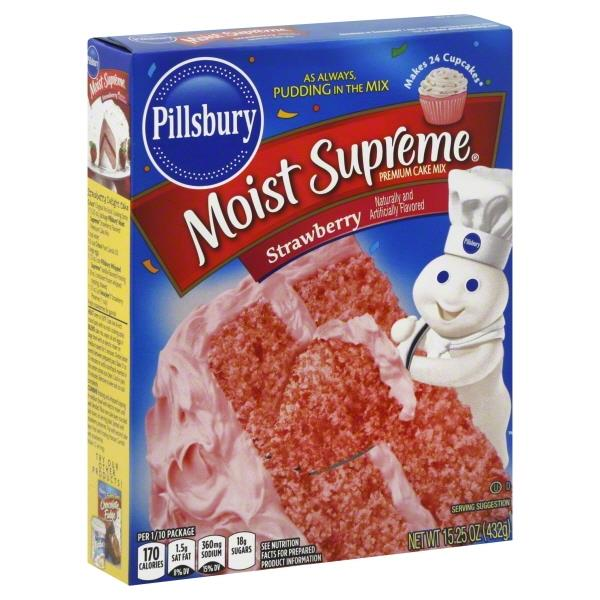 Pillsbury Moist Supreme Strawberry Premium Cake Mix