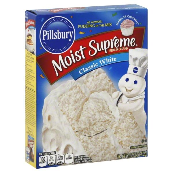 Pillsbury Moist Supreme Classic White Premium Cake Mix