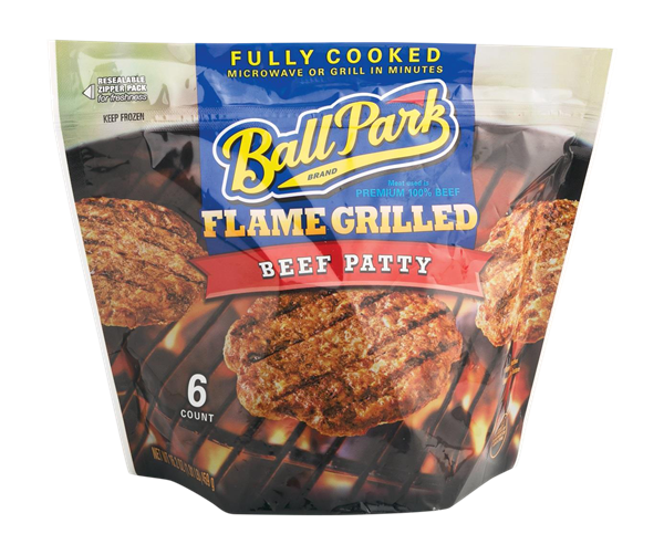 Ball Park Flame Grilled Beef Patty 6 Count