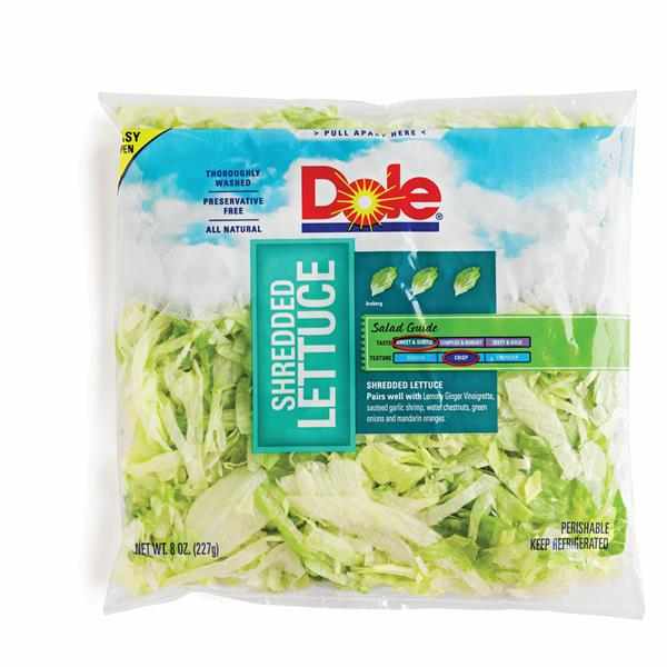 Dole Shredded Lettuce 8 oz. Bag | Hy-Vee Aisles Online ...