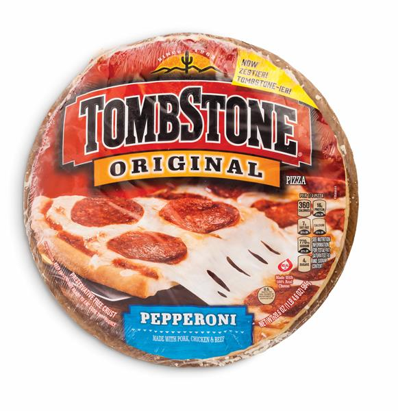 "Tombstone pizza was brought to life in , at a bar called the Tombstone Tap that was located across from a graveyard in Medford, WI. It all started when Tombstone Tap owner, Joe Simek, broke his leg dancing the ""Peppermint Twist.""."