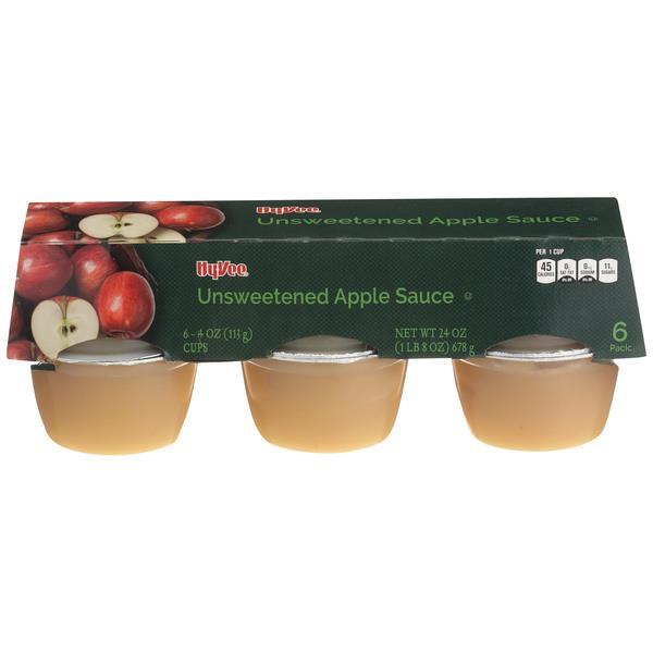 Hy-Vee Natural Style Apple Sauce 6 Pack