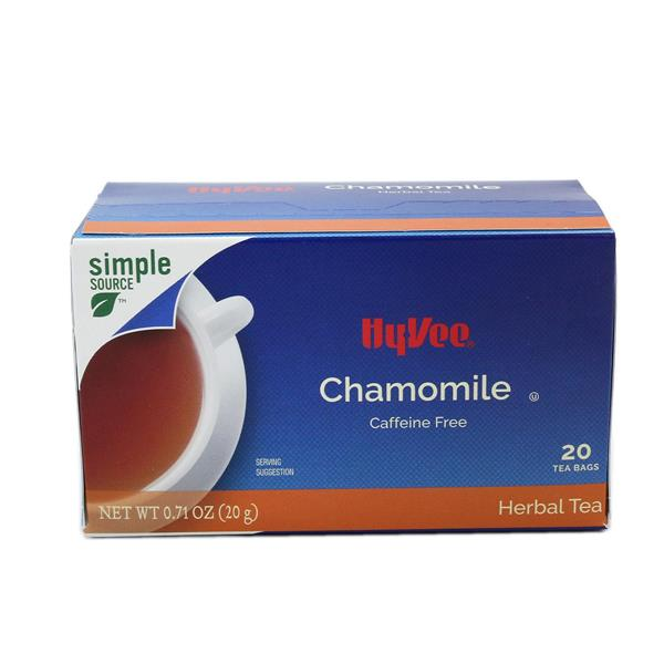 Hy-Vee Chamomile Herbal Tea Bags 20 Count