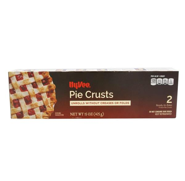 Hy-Vee Ready-to-Bake 9-Inch Pie Crusts 2Ct