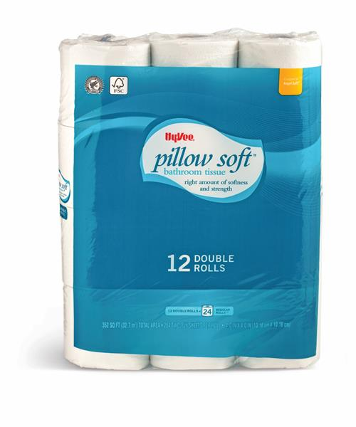 Hy Vee Pillow Soft Double Roll Bathroom Tissue 12ct Hy