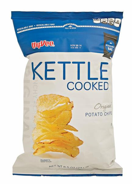 Kettle Cooked Chips ~ Hy vee kettle cooked original potato chips aisles