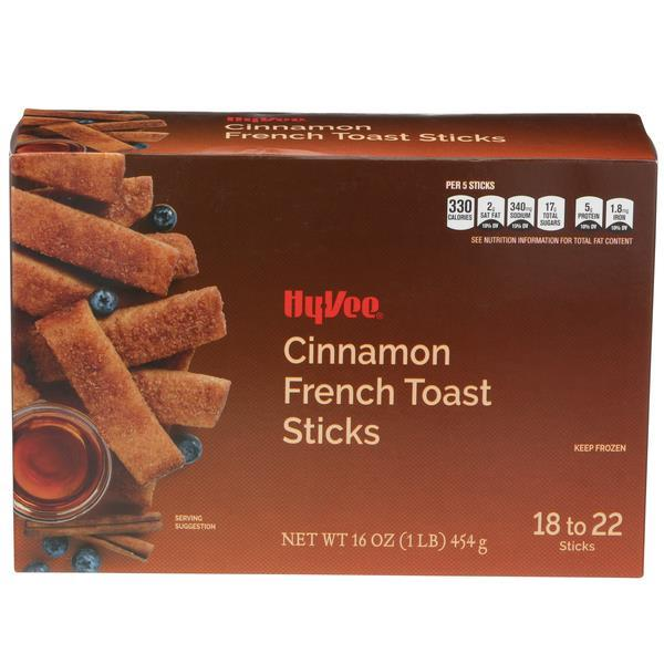 Hy-Vee French Toast Sticks Cinnamon 18-22 Count