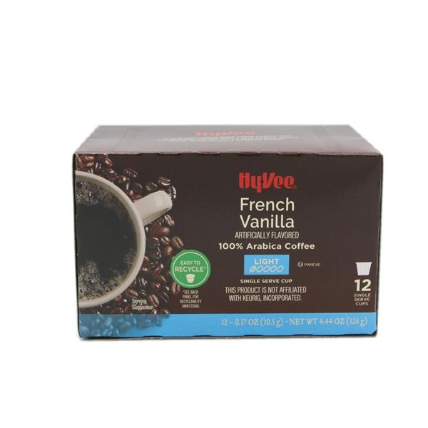 Hy-Vee French Vanilla Single Serve 12-0.37 oz Cups