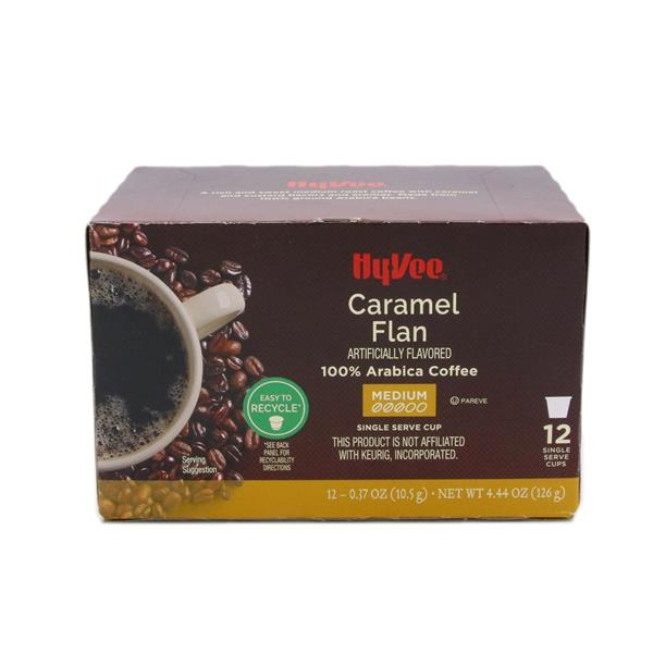 Hy-Vee Caramel Flan Medium Roast 12-0.37 oz Single Serve Cups