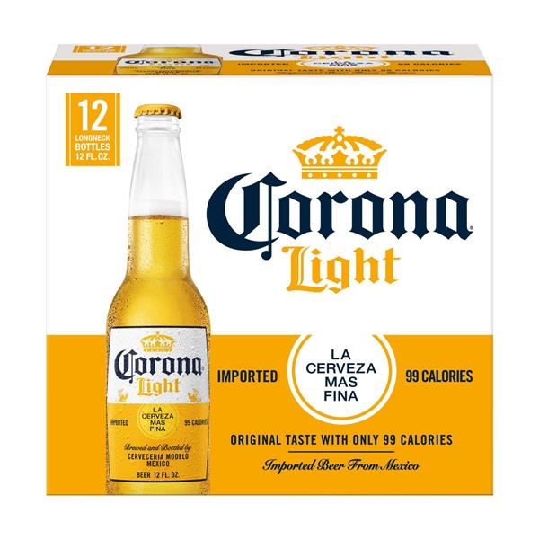 Corona Light Mexican Lager Beer Bottles