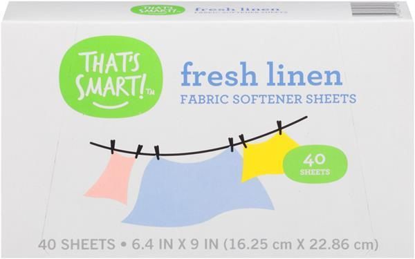 That's Smart Fresh Linen Fabric Softener Sheets