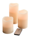 Tuscany 3 Piece LED Candle Set with Remote
