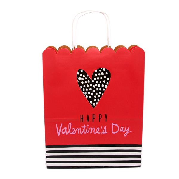 Happy Valentines Day Scallop Large Gift Bag