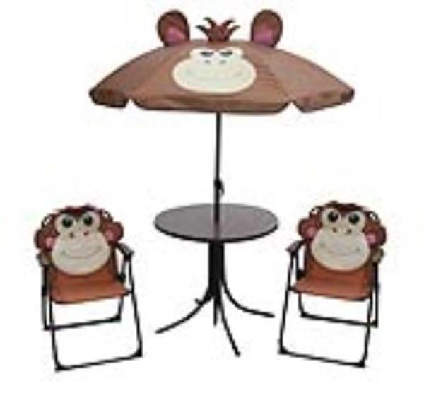 Children's 4 Piece Monkey Design Steel Patio Set (Delivery options available. See item details.)