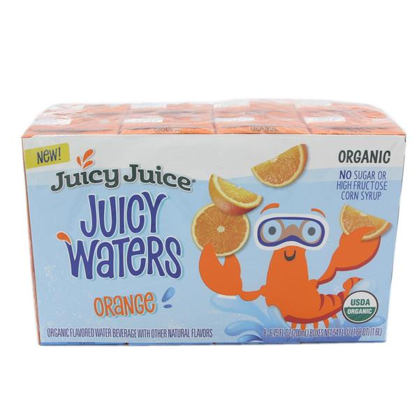 Juicy Juice Organic Juicy Waters, Orange 8Ct