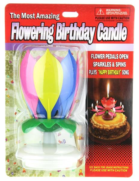 Flowering Birthday Candle